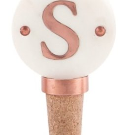 S Initial Copper Bottle Stopper
