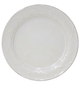 Casafina Meridian Decorated Dinner Plate - White