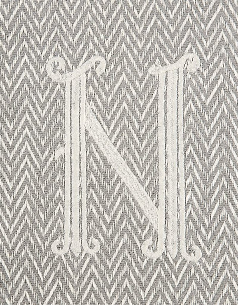 Herringbone Initial Throw Blanket - N - AGAPANTHUS 2fba768a4