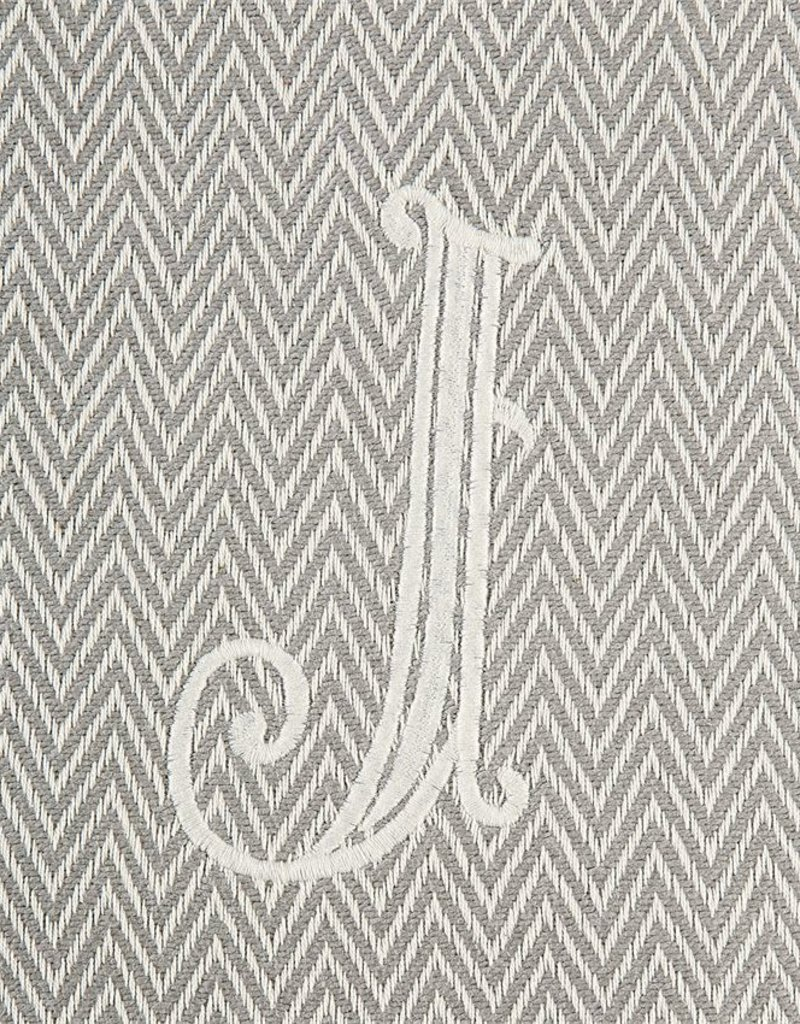 Herringbone Initial Throw Blanket - J - AGAPANTHUS 901563df8