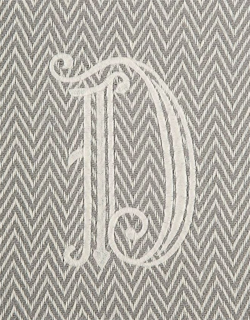 Herringbone Initial Throw Blanket - D - AGAPANTHUS 74a84bd90