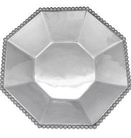 Mariposa Pearled Octagonal Serving Bowl