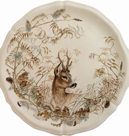 "Gien Sologne Cake Platter - Deer - 13.25""D"