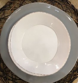Lastra European Dinner Gray + Pasta Bowl - White for Krystin & Cale