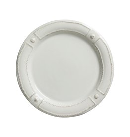 Juliska Berry and Thread French Panel Dinner Plate - Whitewash