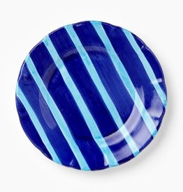Vietri Maremisto Multi Striped Charger - Blue