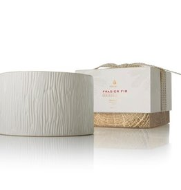 Thymes Frasier Fir Ceramic Poured 3 Wick Candle - 17 oz