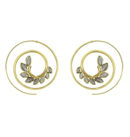 Labradorite Kamala Spiral Earrings