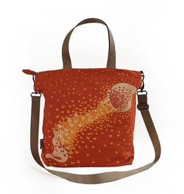 Cross Body Tote Bag -Terracotta Cat
