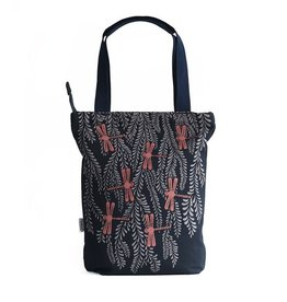Sackai Tote Backpack - Navy Dragonflies