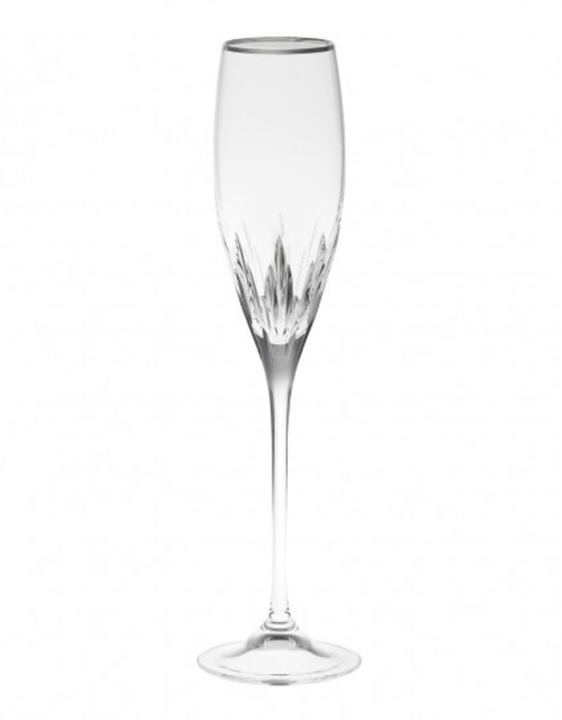 Vera For Wedgwood Sse Champagne Flute Platinum Rim