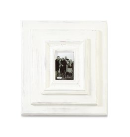 "White-Washed Wooden 19""x17"" Frame - 6""x4"" Photo"