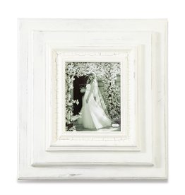 "White-Washed Wooden 23""x21"" Frame - 8""x10"" Photo"
