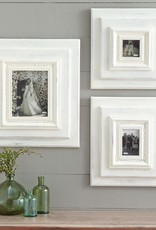 """White-Washed Wooden 19""""x17"""" Frame - 6""""x4"""" Photo"""