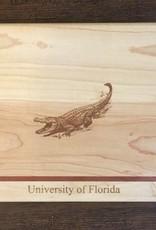 "Custom Bar Block Cutting Board - Single Stripe - 9"" UF Gator"