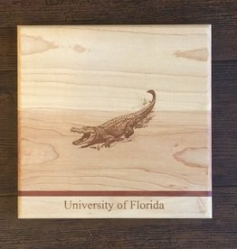 "Custom Bar Block Cutting Board - Single Stripe - 9"" UF Gator"
