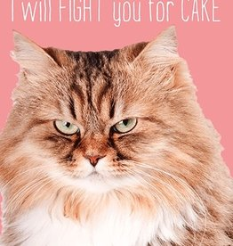 Fur Cat Fight Birthday Card
