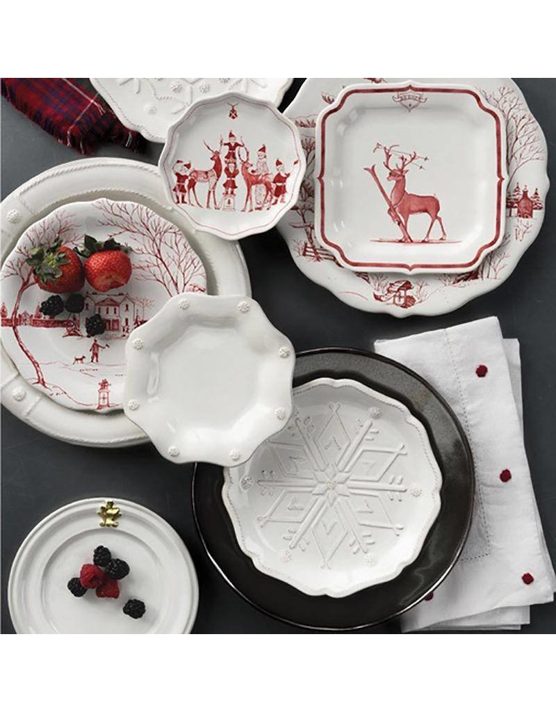 Juliska Country Estate Reindeer Games Tidbit Plates Set/4