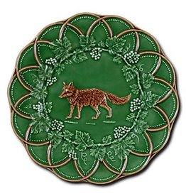 CE Corey Bordallo Scalloped Fox Plate - 9""