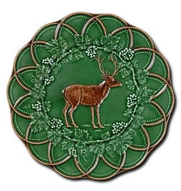 CE Corey Bordallo Scalloped Deer Plate - 9""