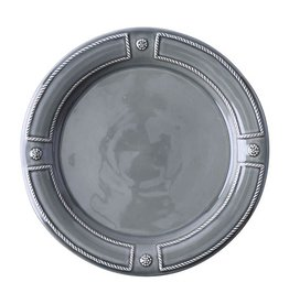Juliska Discontinued Berry and Thread French Panel Dinner Plate - Stone Grey