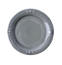Juliska Berry and Thread French Panel  Dessert/Salad Plate - Stone Grey