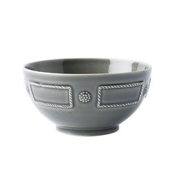 Juliska Discontinued Berry and Thread French Panel Cereal/Ice Cream Bowl - Stone Grey