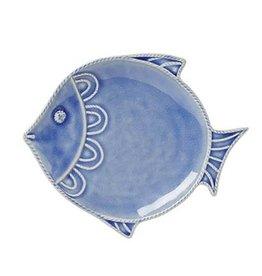 Juliska Berry and Thread Sea Life Fish Dessert/Salad Plate - Delft Blue