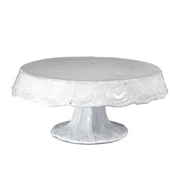 Vietri Incanto Lace Medium Cake Stand - White