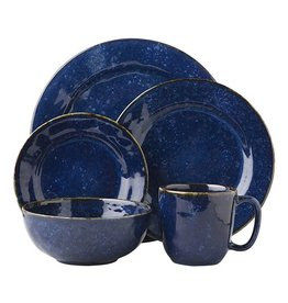 Juliska Puro Dappled Cobalt 5pc Place Setting