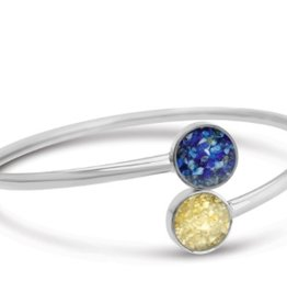 Dune Jewelry Twisty Bypass Cuff - Silver - Crescent Beach & Turquoise