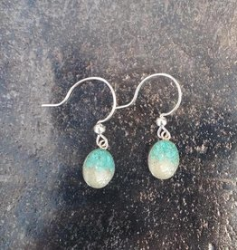 Dune Jewelry Small Sandrop Earrings - Turquoise into Mexico Beach/Gradient