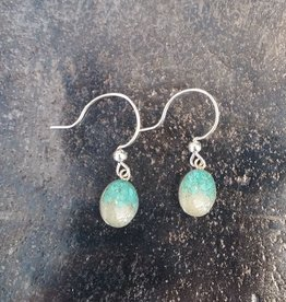 Dune Jewelry Small Sandrop Earrings - Turquoise into Crescent/Gradient