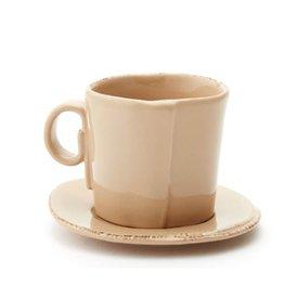 Vietri Lastra Espresso Cup and Saucer   - Cappuccino