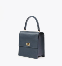 Neely & Chloe Mini Lady Bag Saffiano - Navy