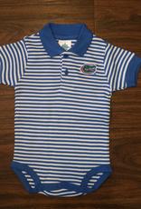 Gator Stripe Polo Onesie - Blue - 12 Months
