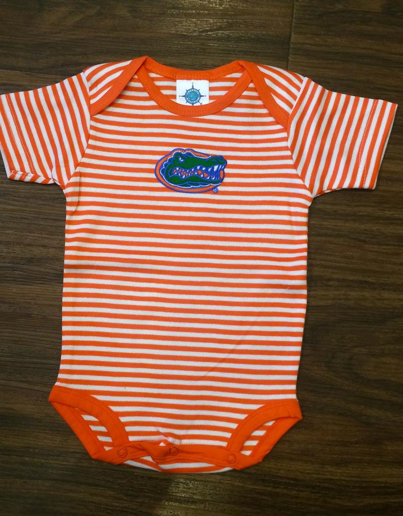 Gator Stripe Onesie - Orange - 3-6 Months