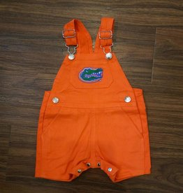Short Leg Overalls - Gator Orange - 3-6 Months