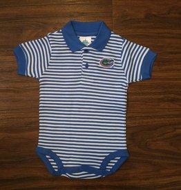 Gator Stripe Polo Onesie - Blue - 3-6 Months