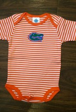 Gator Stripe Onesie - Orange - 12 Months
