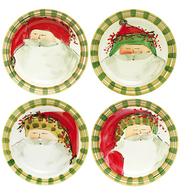 Vietri Old St. Nick Dinner Plates - 4 Assorted