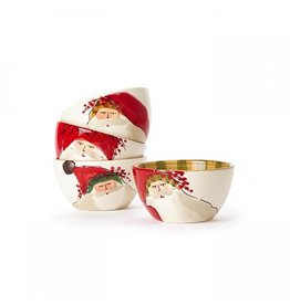 Vietri Old St. Nick Cereal Bowl - Assorted Set of 4