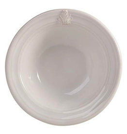 "Juliska Acanthus White Cereal/Ice Cream Bowl  - Whitewash - 7.5""Wx2""H"