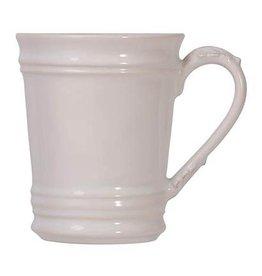 """Juliska Acanthus Mug - Whitewash - 3.75""""W x 4.75""""H"""