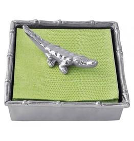Mariposa Alligator Cocktail Napkin Box