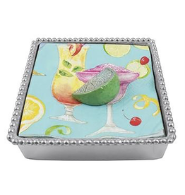 Mariposa Green Lime Beaded Cocktail Napkin Box