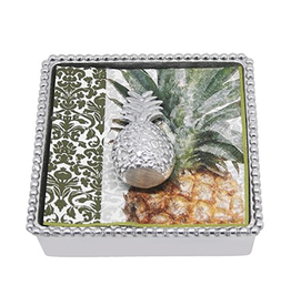 Mariposa Pineapple Beaded Cocktail Napkin Box