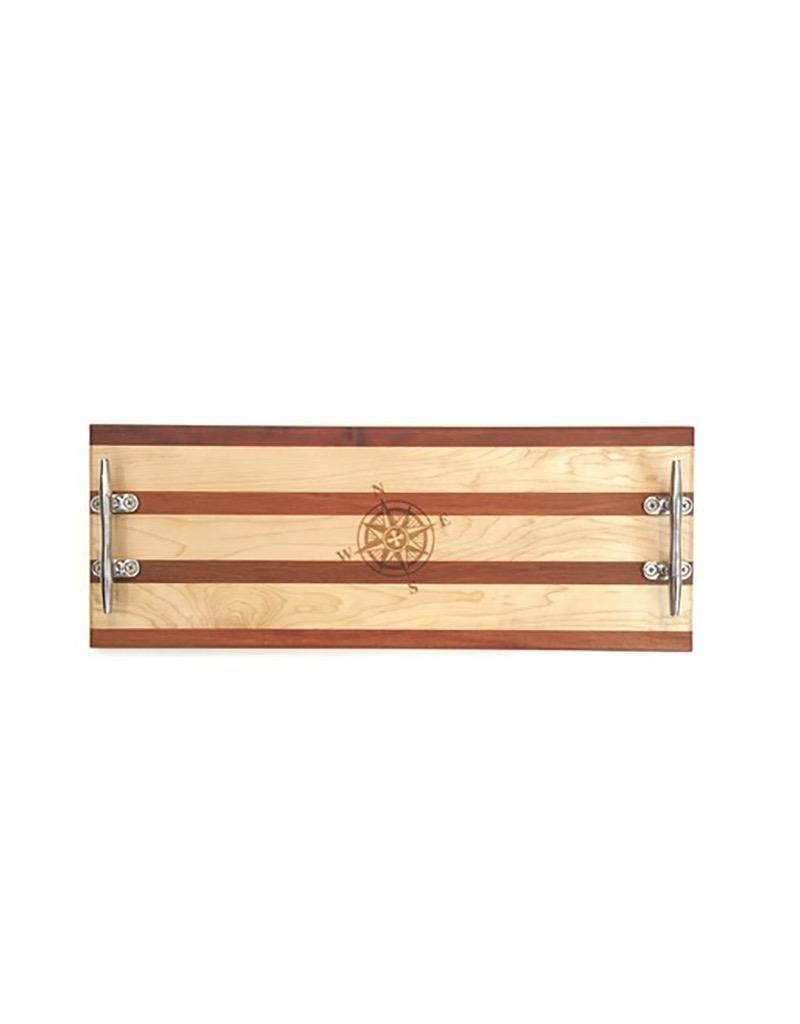 Double Appetizer Board - Multi Stripe