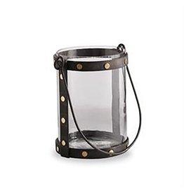 Brass Studded Lantern Votive Holder - Medium