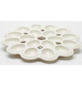 """Lattice Deviled Egg Platter - White - 13.5""""D"""